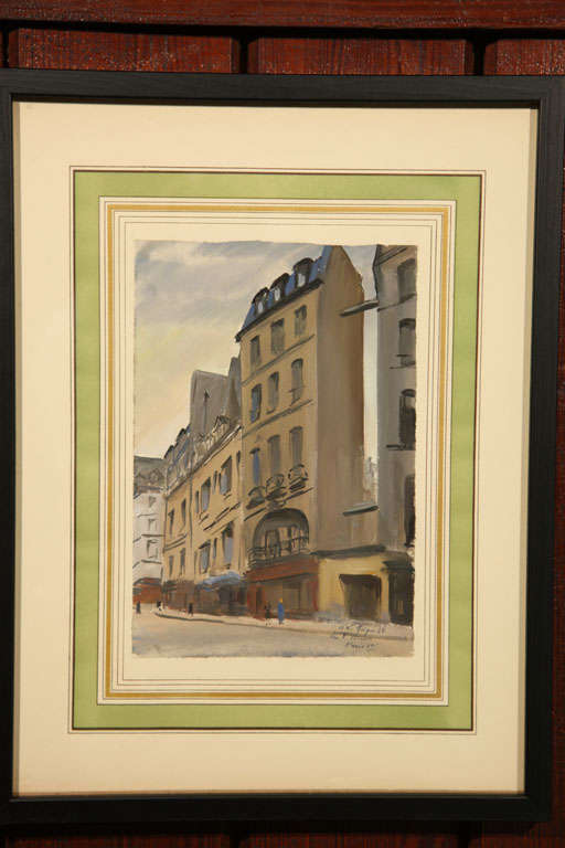 Mid-20th Century Set of Six French Watercolors For Sale