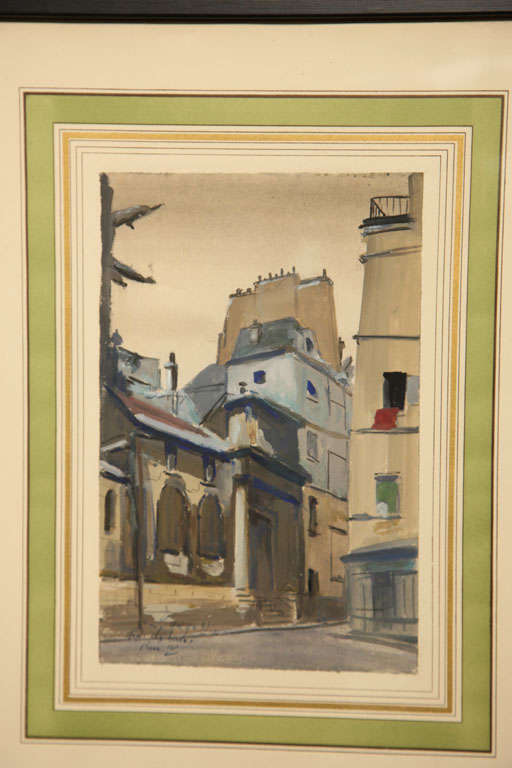 Set of Six French Watercolors For Sale 3