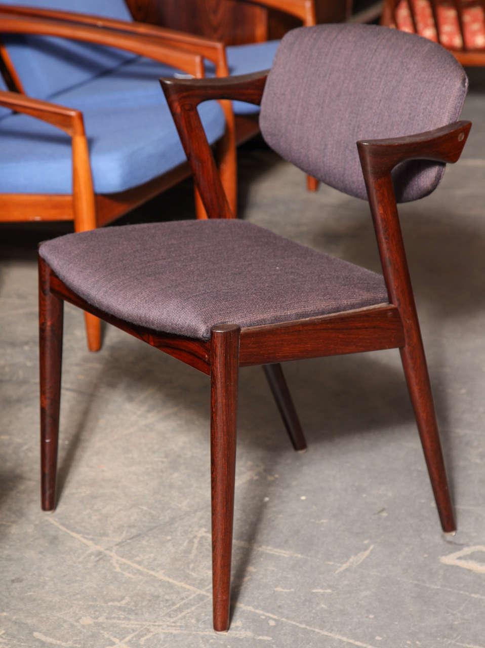 Kai kristiansen no 42 dining chair rosewood set of six at 1stdibs - Kai kristiansen chair ...