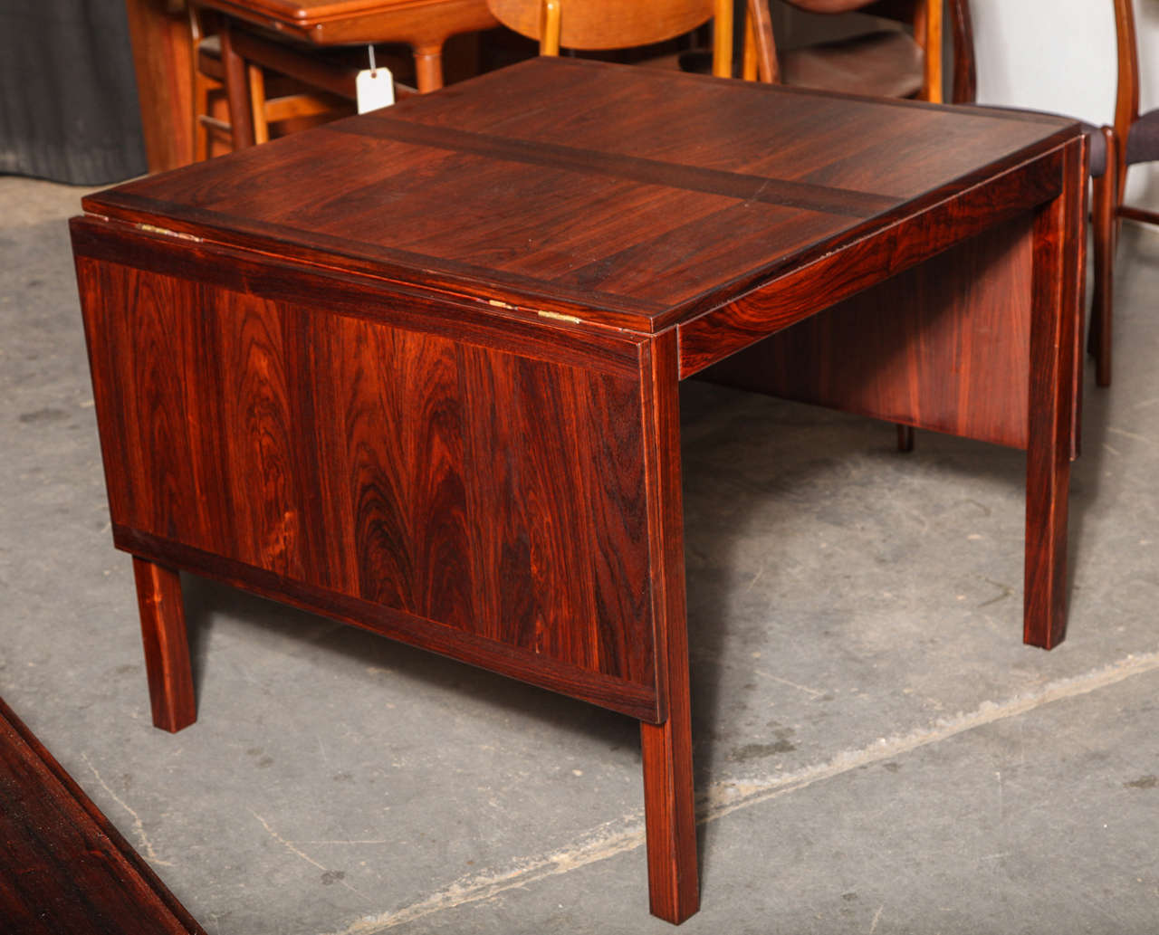 Rosewood Drop Leaf Dining Table by Kai Winding at 1stdibs : B from www.1stdibs.com size 1280 x 1033 jpeg 129kB