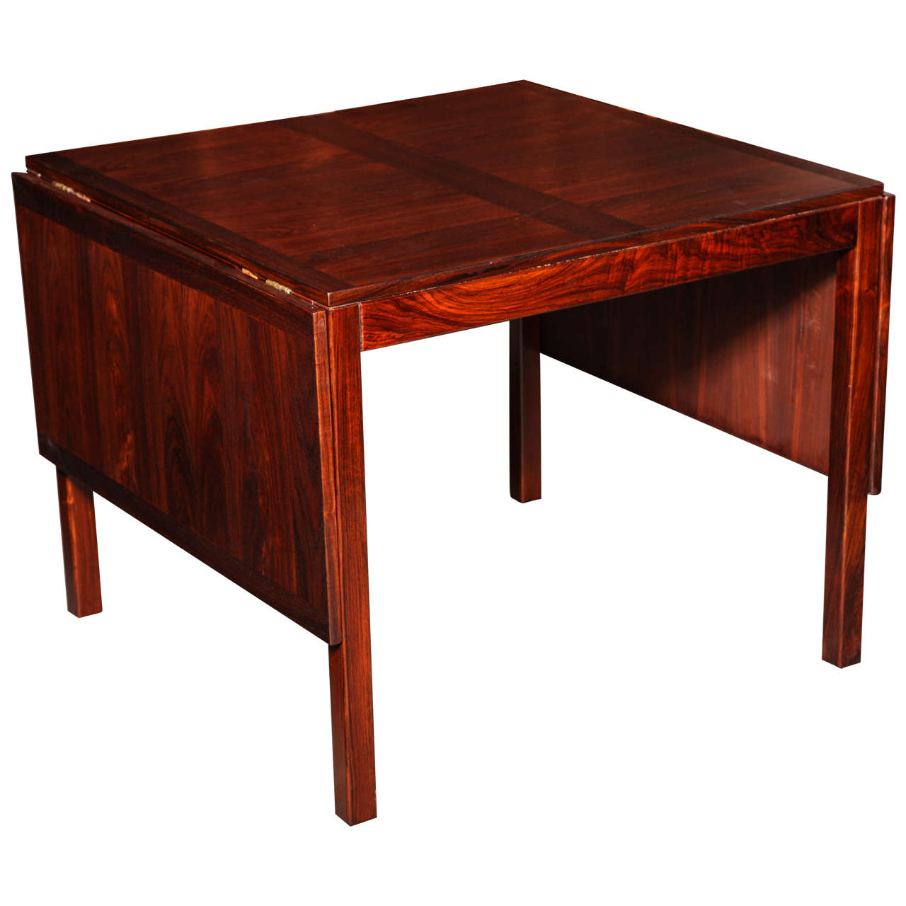 rosewood drop leaf dining table by kai winding at 1stdibs. Black Bedroom Furniture Sets. Home Design Ideas