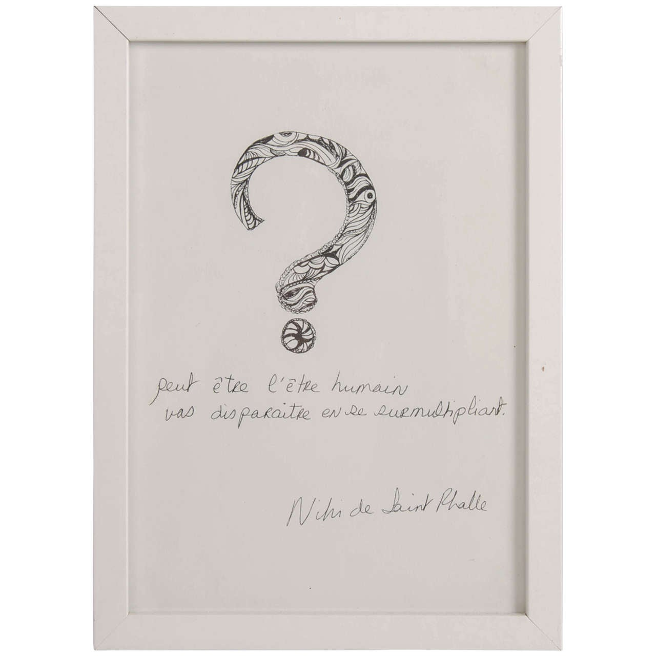 1970s Niki de Saint Phalle 'L'etre Humain' print