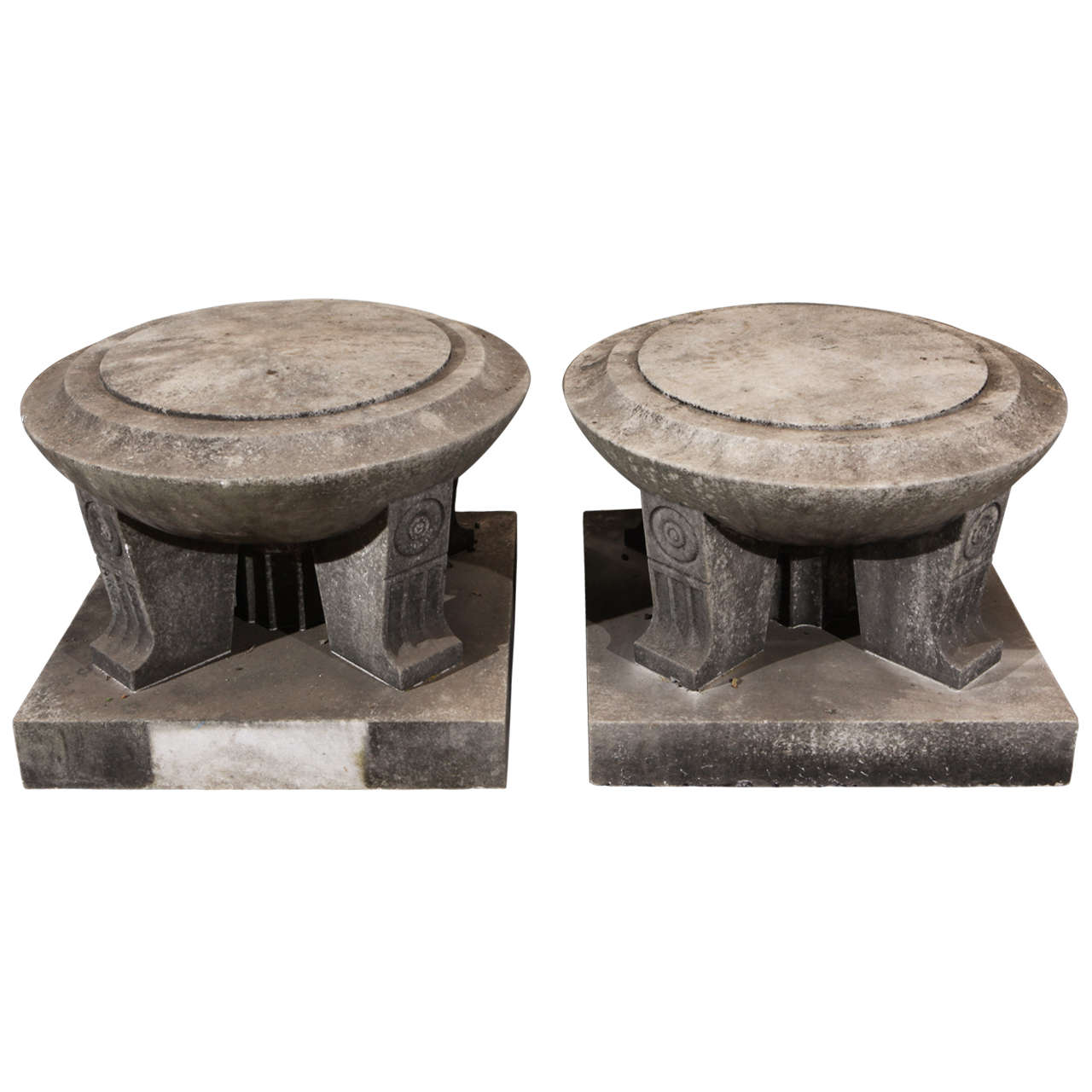 Frank lloyd wright style marble ornaments at 1stdibs for Wright style