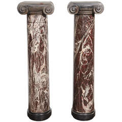 19th Century Pair of Marble Columns