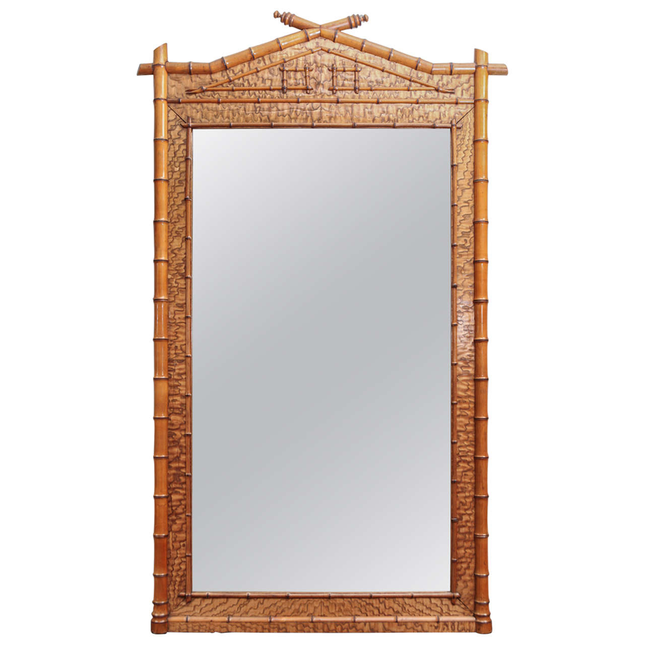 Early 19th Century Bamboo Mirror