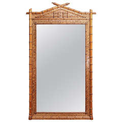 Early 19th Century Bamboo Mirror