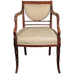 19th Century Regency Chair in Mahogany