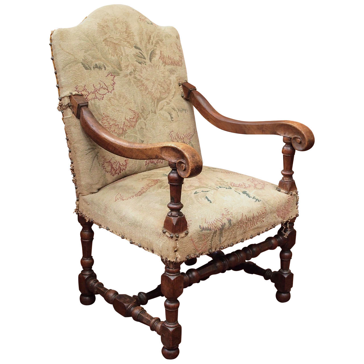 louis xiii tapestry fauteuil at 1stdibs. Black Bedroom Furniture Sets. Home Design Ideas