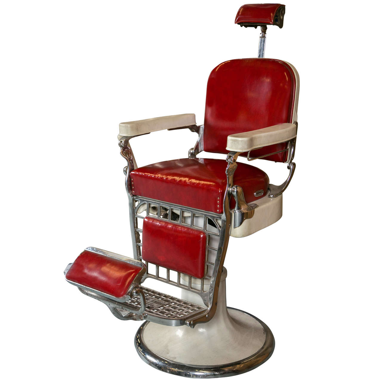 Antique Emil J Paidar Barber Chair For Sale