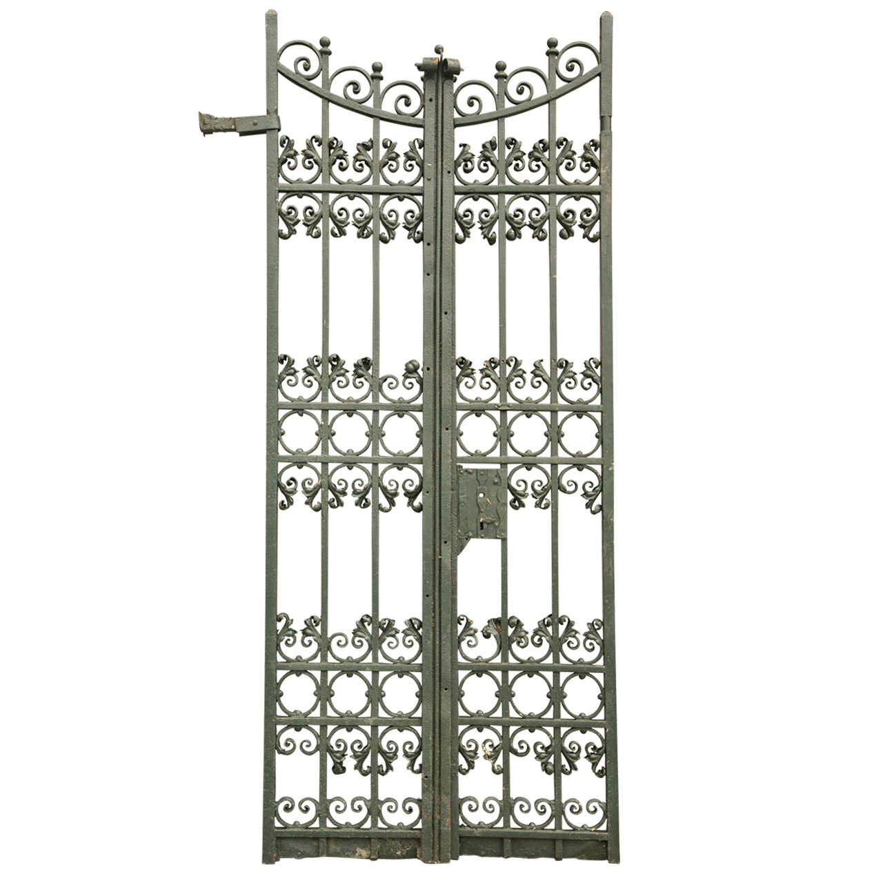 Antique pair of wrought iron gates at stdibs
