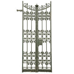 Antique Pair of Wrought Iron Gates