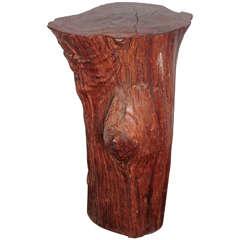 "Organic Tree Trunk Table, 29""H"