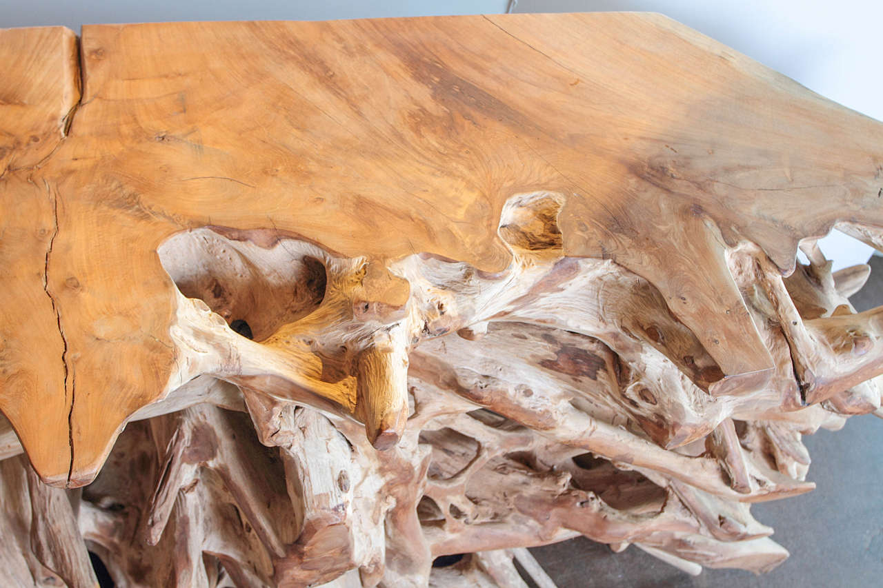 Teak Root Console Table 3
