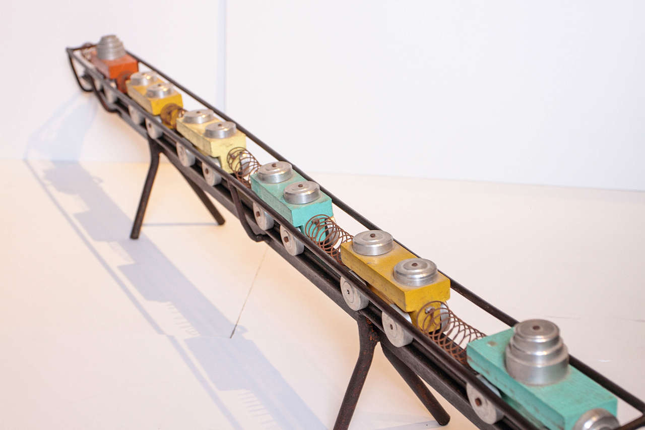 Industrial French Toy Train Set For Sale