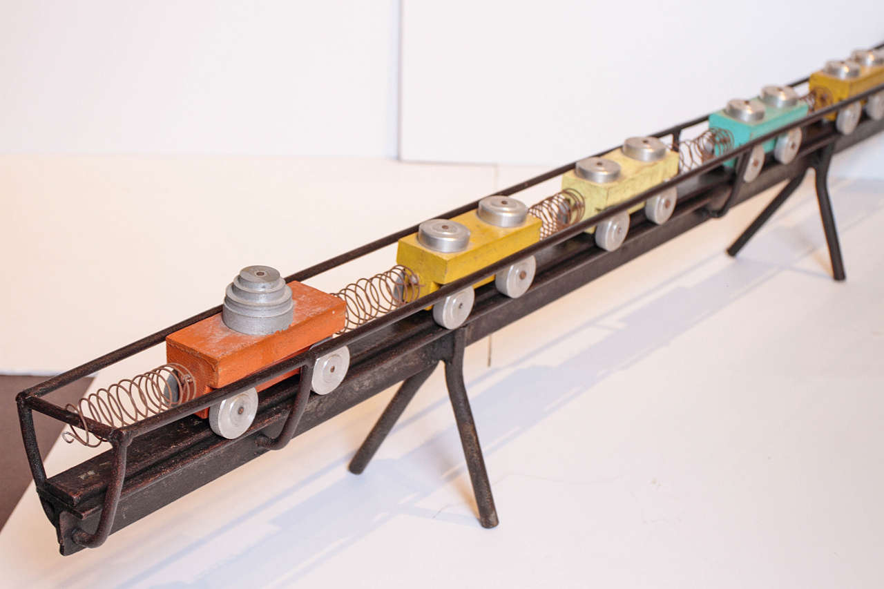 Mid-20th Century French Toy Train Set For Sale