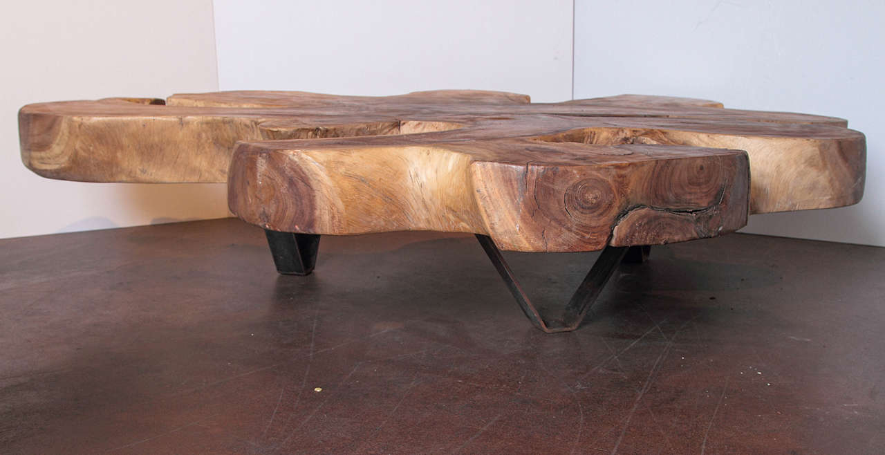 Organic form lychee wood coffee table at 1stdibs - Organic wood coffee table ...