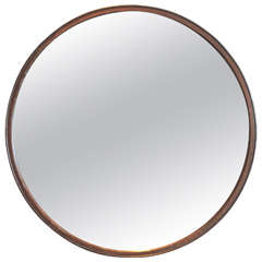 Industrial Wheel Mirror Frame