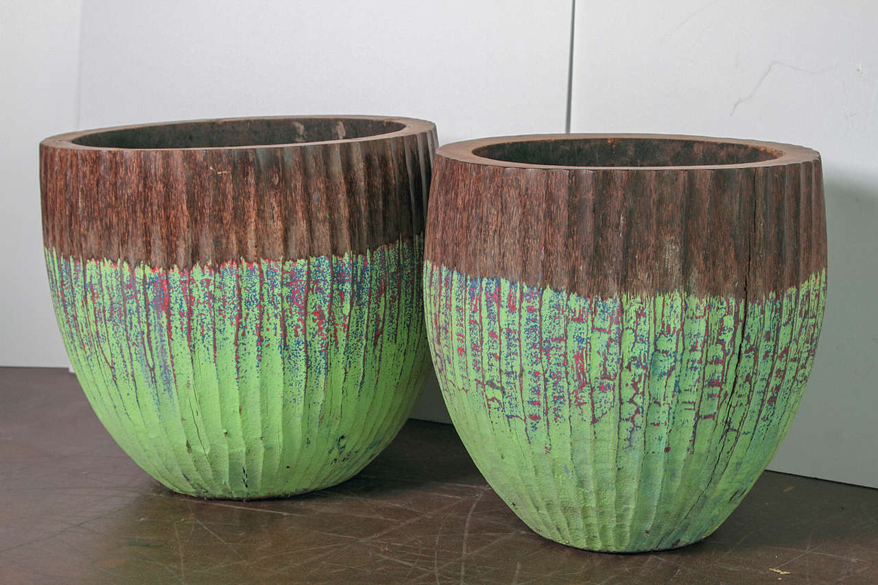 Organic Green Palm Bowls For Sale At 1stdibs