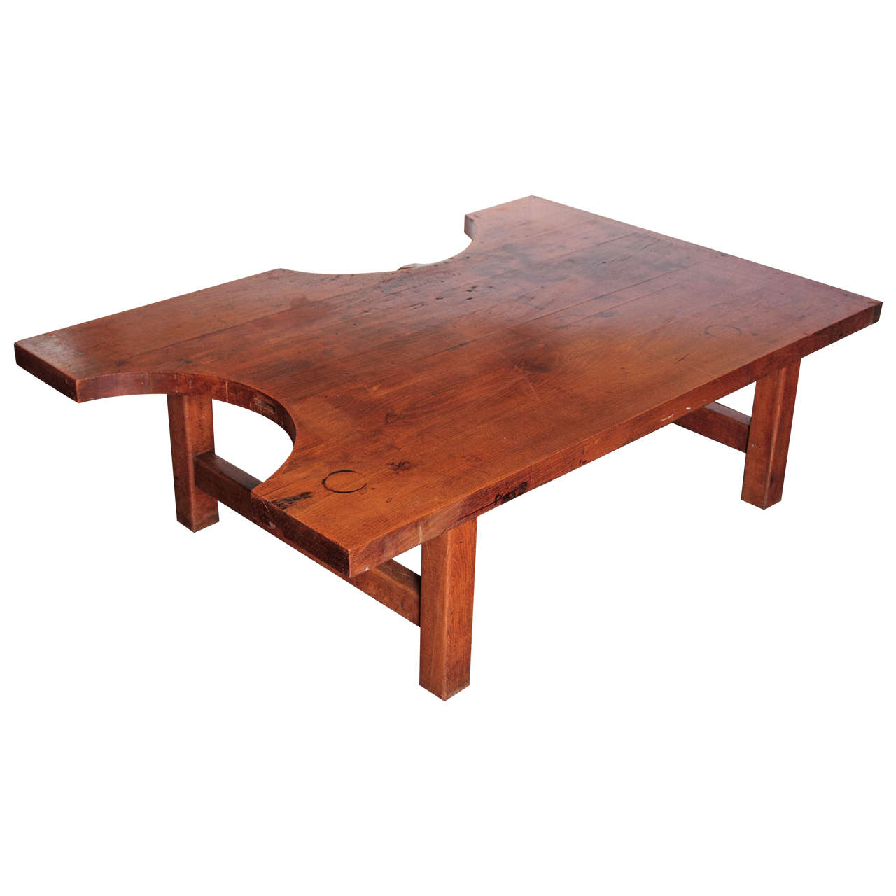 French Puzzle Shape Coffee Table At 1stdibs