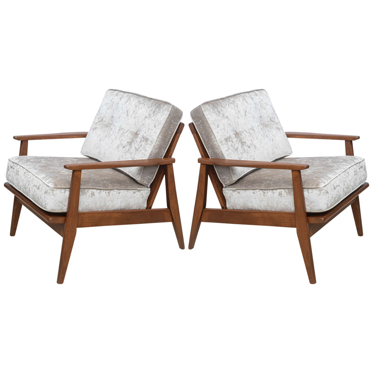 Newly Refurbished Pair Of MCM Arm Chairs, 1960 America At