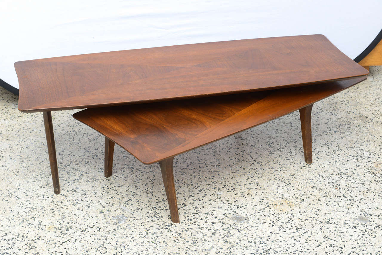 Modern Swivel Coffee Table.Pivot Or Swivel Mid Century Modern Coffee Table 1960s America