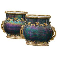 Pair Austrian Art Nouveau Vases