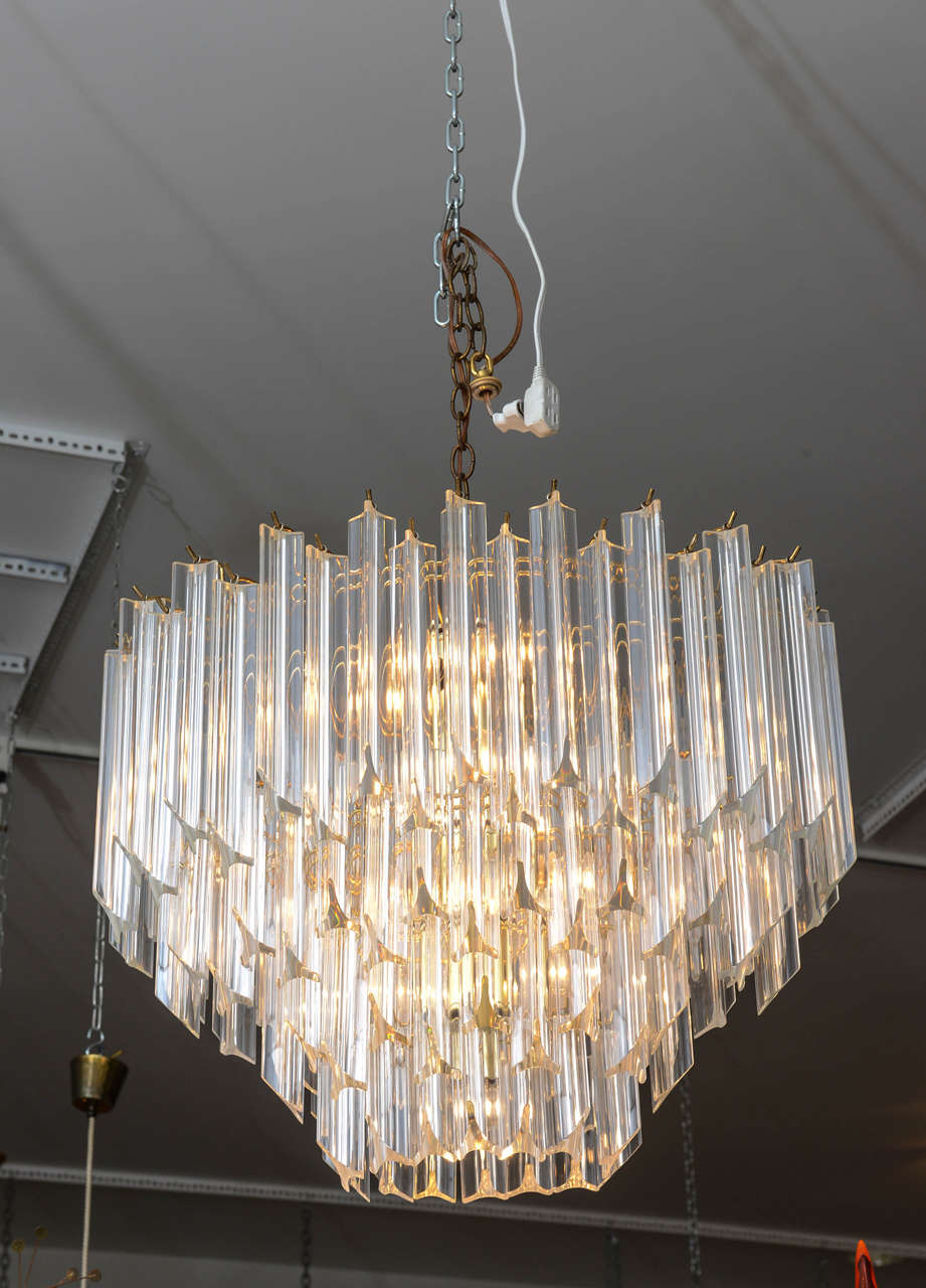 late spiral s chandelier antiques era lucite fixture ceiling