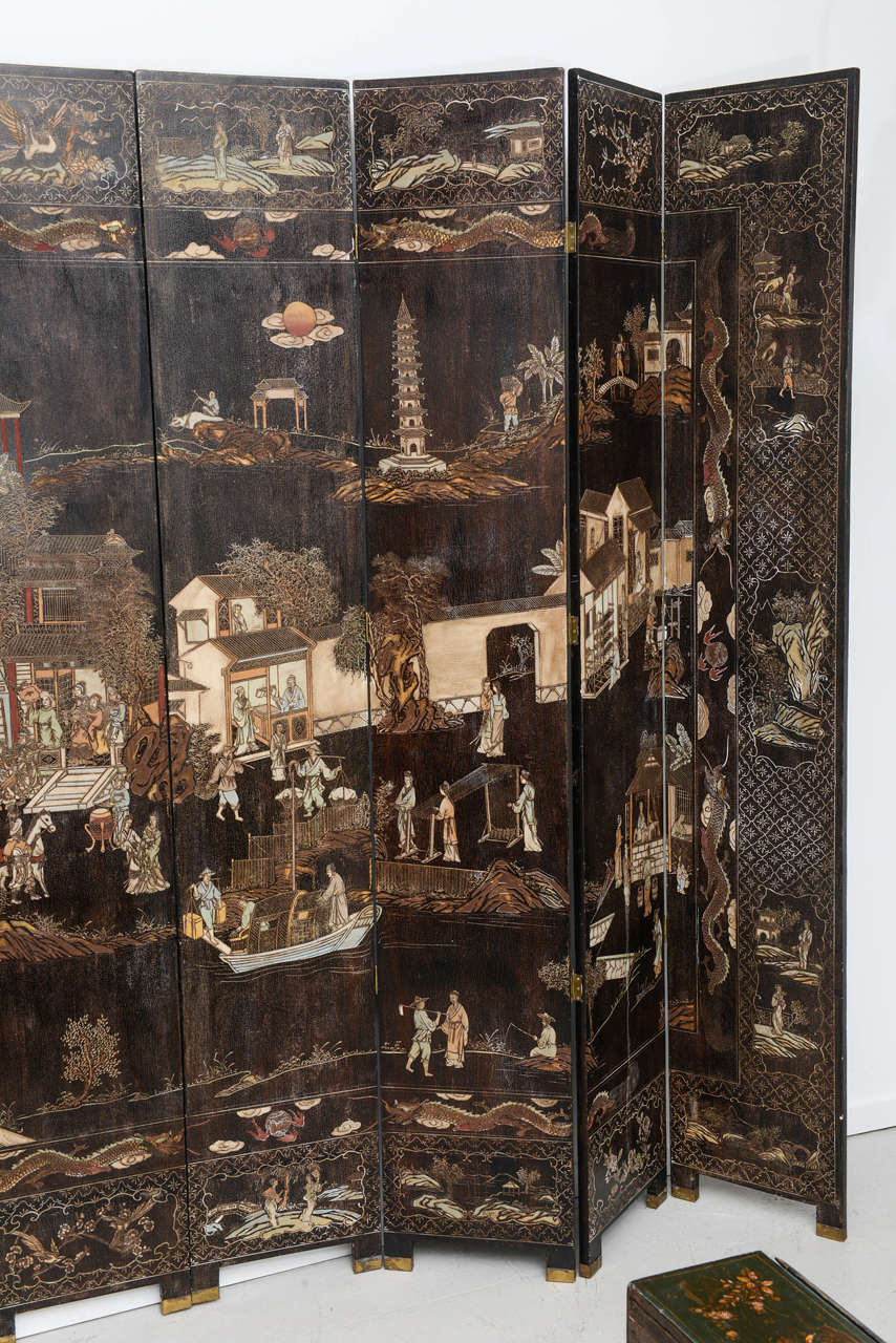 Oriental lacquer screen at 1stdibs for Asian antiques west palm beach