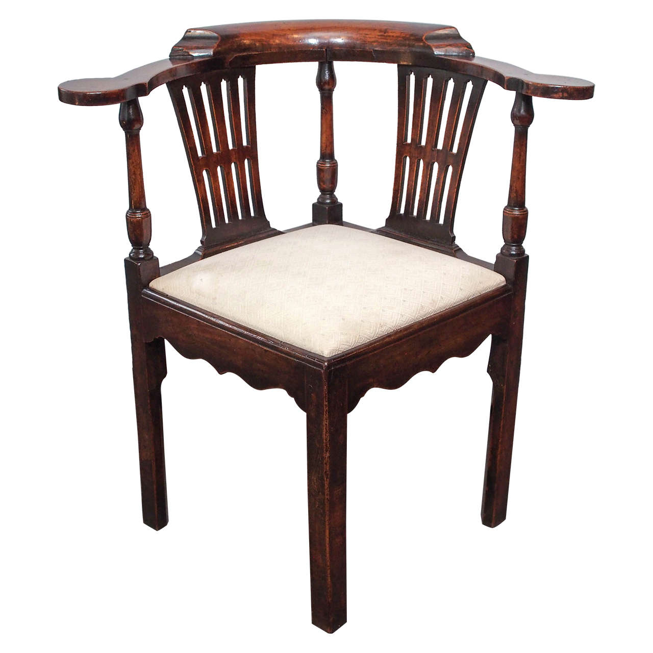 Antique english corner chair at 1stdibs for Antique desk chair