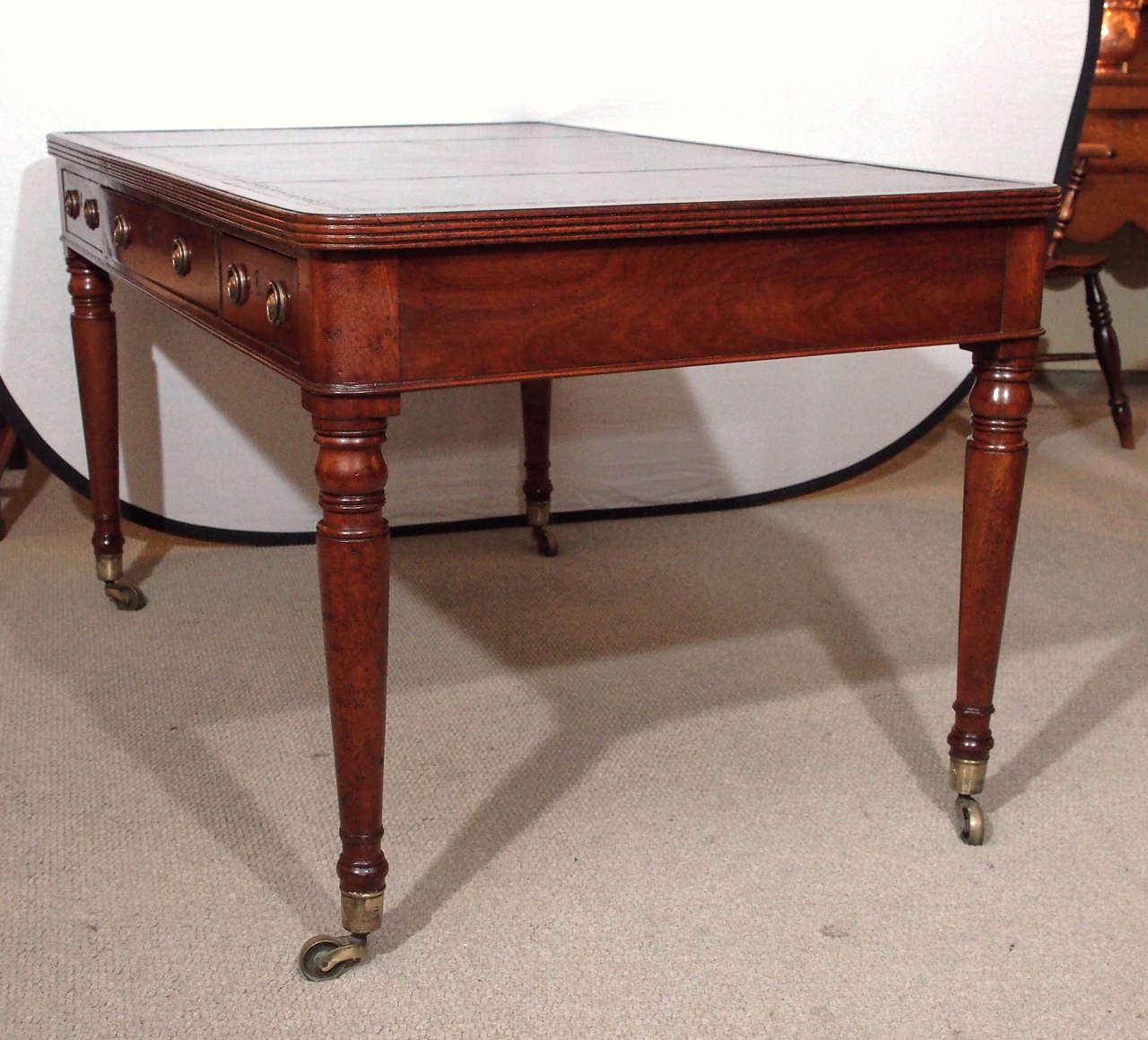 English Antique Writing Desks ~ Antique english partner s desk or writing table at stdibs