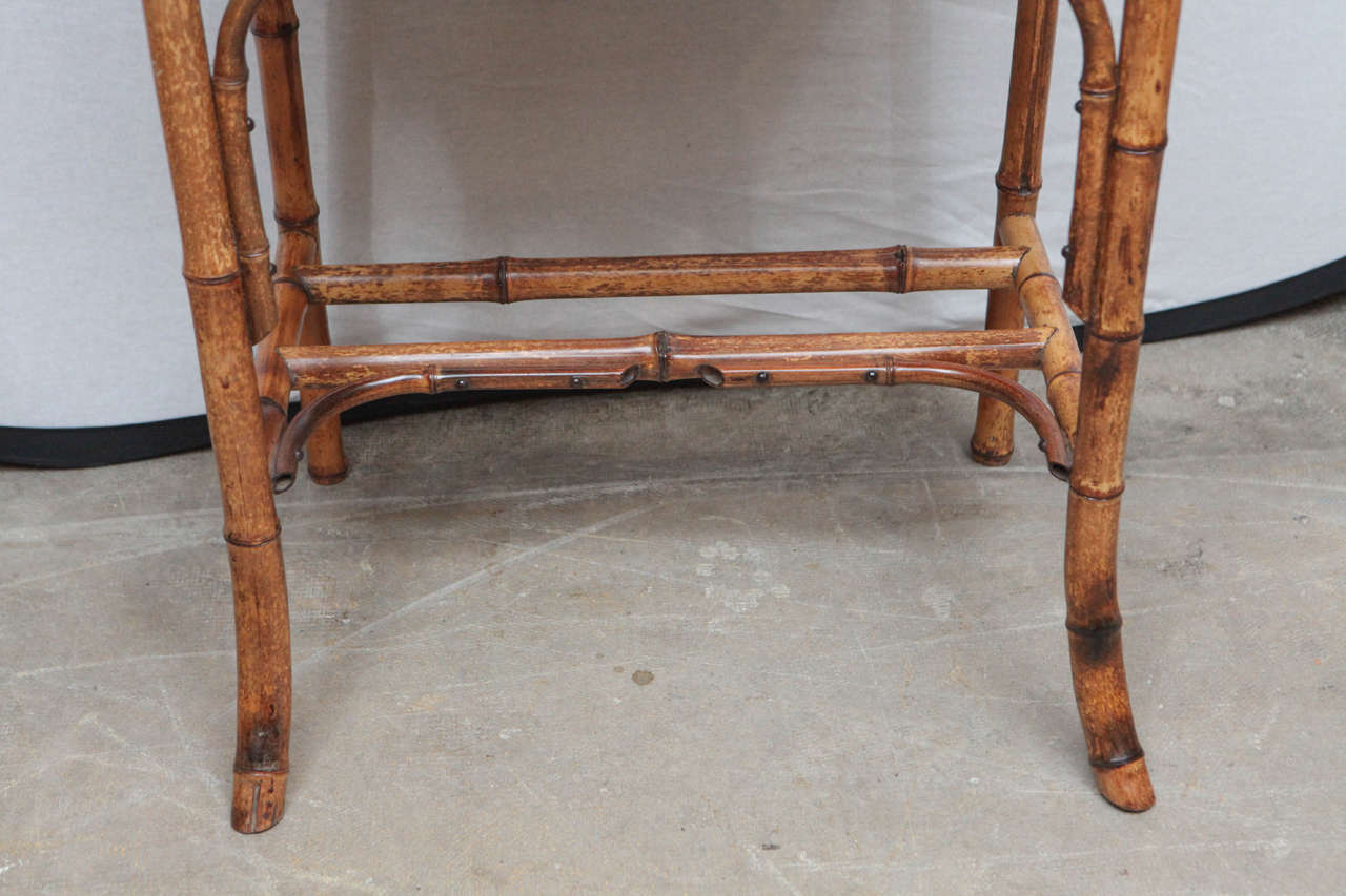 19th Century English Bamboo Writing Table with Single Drawer 4