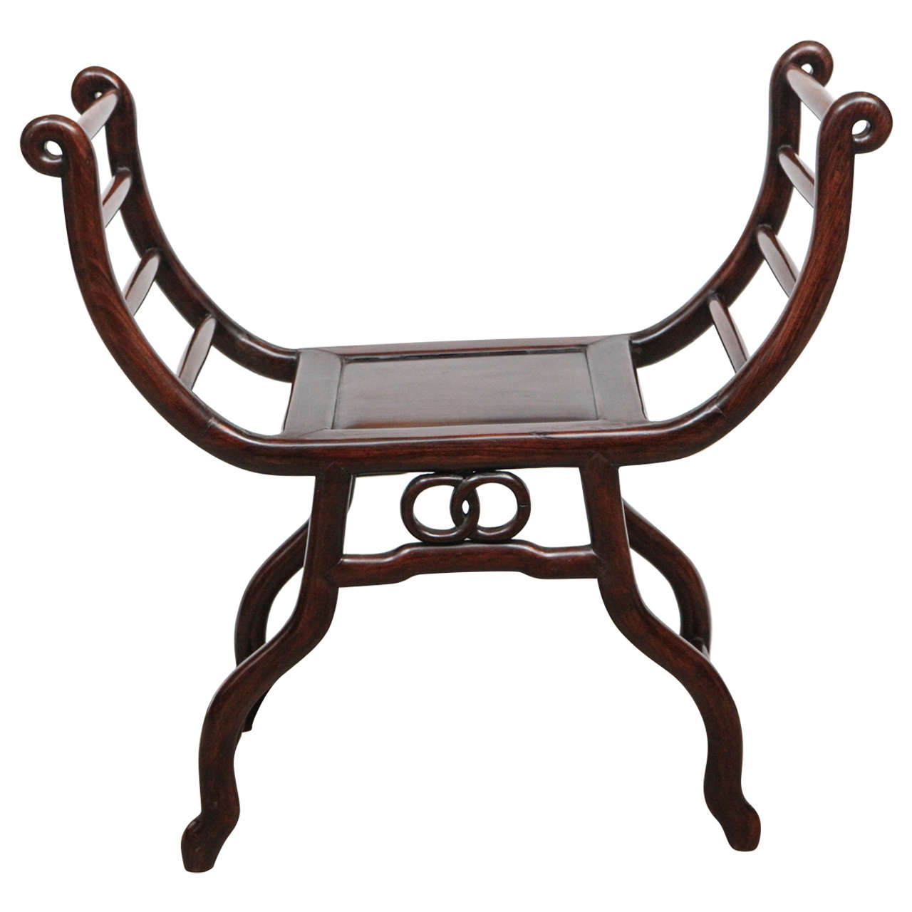 Late 19th Century Chinese Rosewood Stool