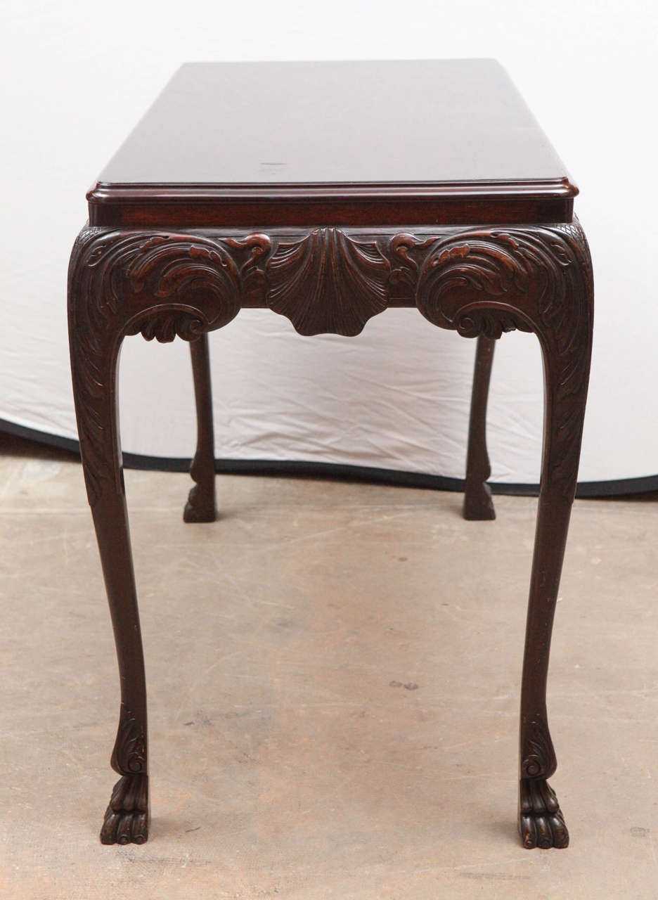 19th Century English Mahogany Console Table with Single Drawer For Sale 3