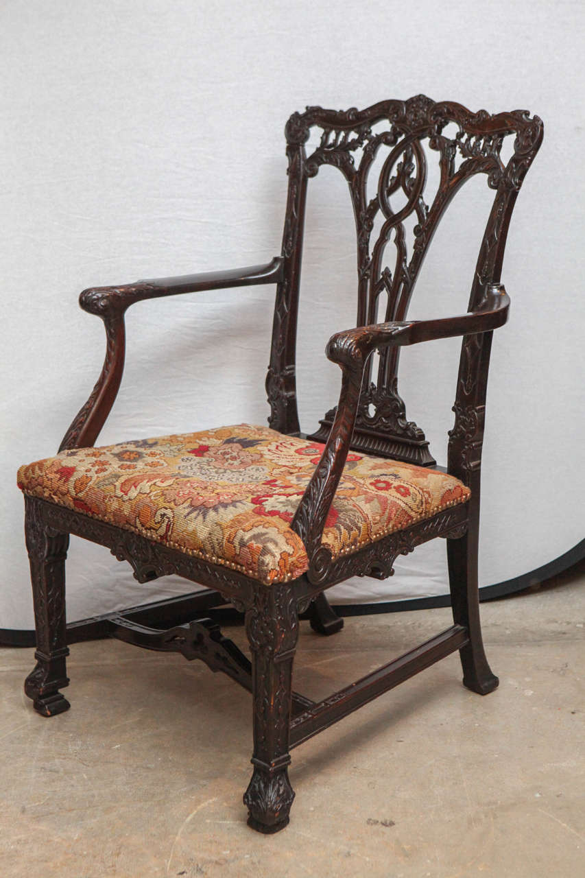 Pair of 19th century english mahogany oversized armchairs for Oversized armchairs for sale