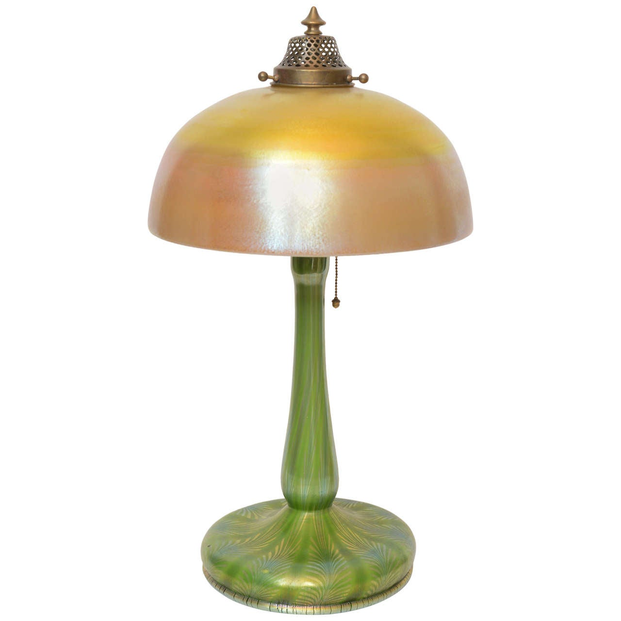 Louis comfort tiffany favrile glass table lamp for sale at for F k a table lamp