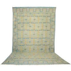 Antique Oversize Indian Cotton Dhurrie