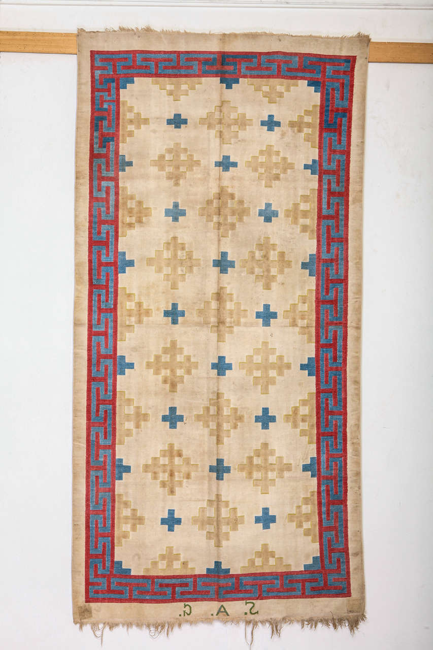 The weaving of flat-woven cotton carpets known as dhurries is cited in Mughal chronicles of the 15th century. Probably one of the earliest forms of floor covering, dhurries were woven in various formats according to their function, which range from