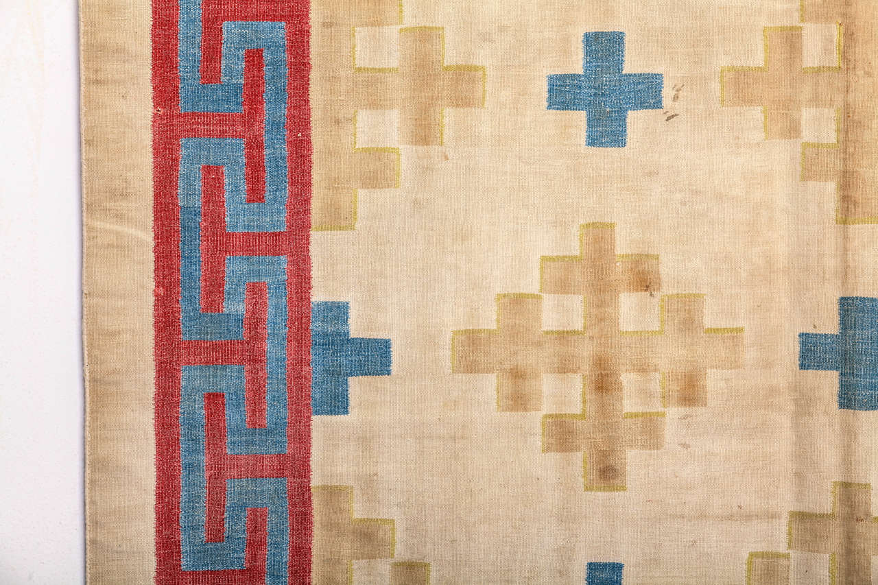 Agra Antique Cotton Dhurrie Rug For Sale
