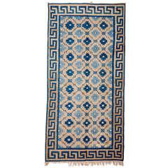 Antike indische Baumwolle Dhurrie Teppich