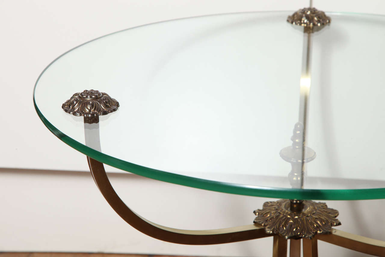 20th Century Pair of French Art Deco Round Side Tables, circa 1910 For Sale