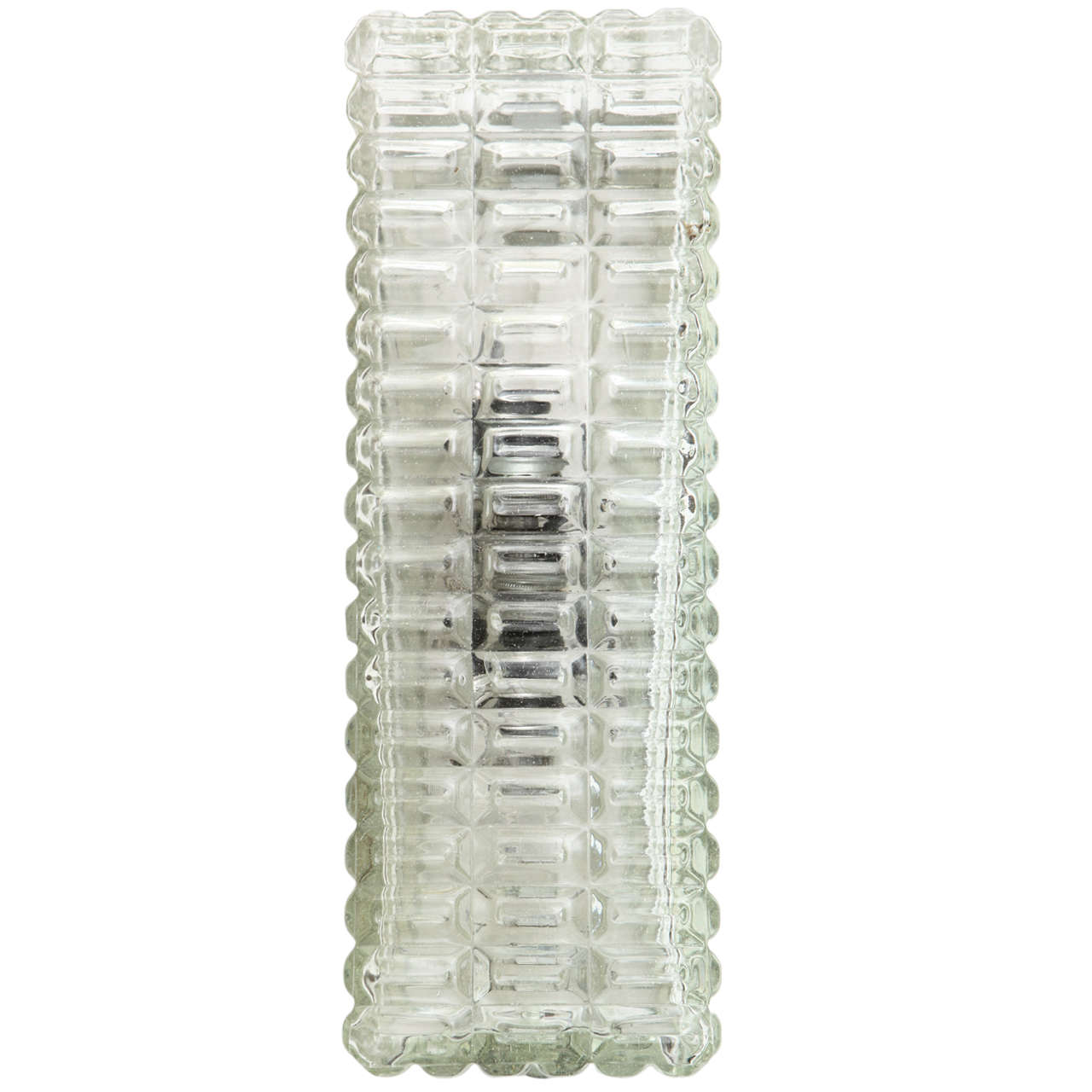 1950s Rectangular Clear Glass Wall Sconce at 1stdibs