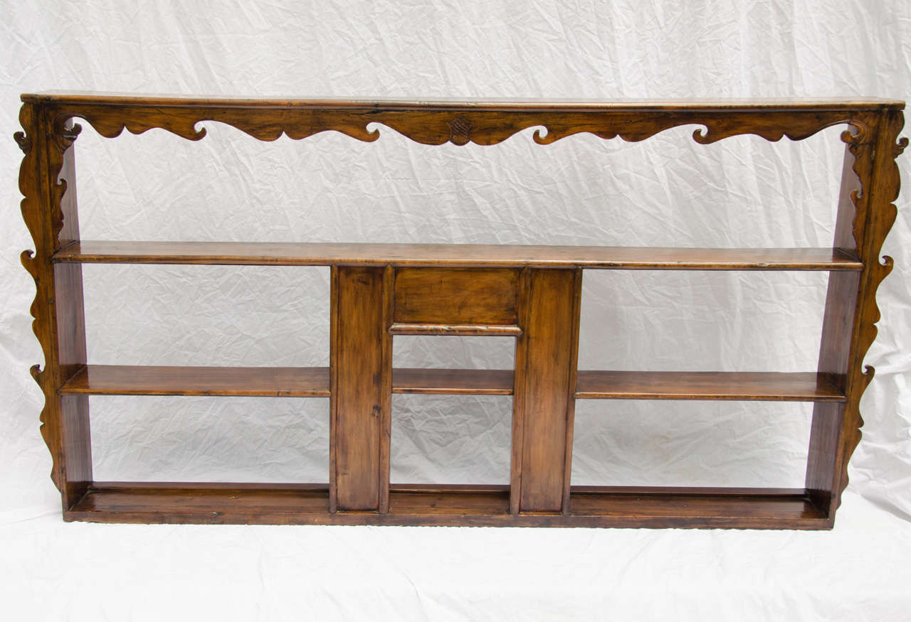 Late 19thC. Indonesian Dutch Colonial Anglo Hanging Display Shelf  2