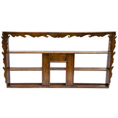 Late 19thC. Indonesian Dutch Colonial Anglo Hanging Display Shelf