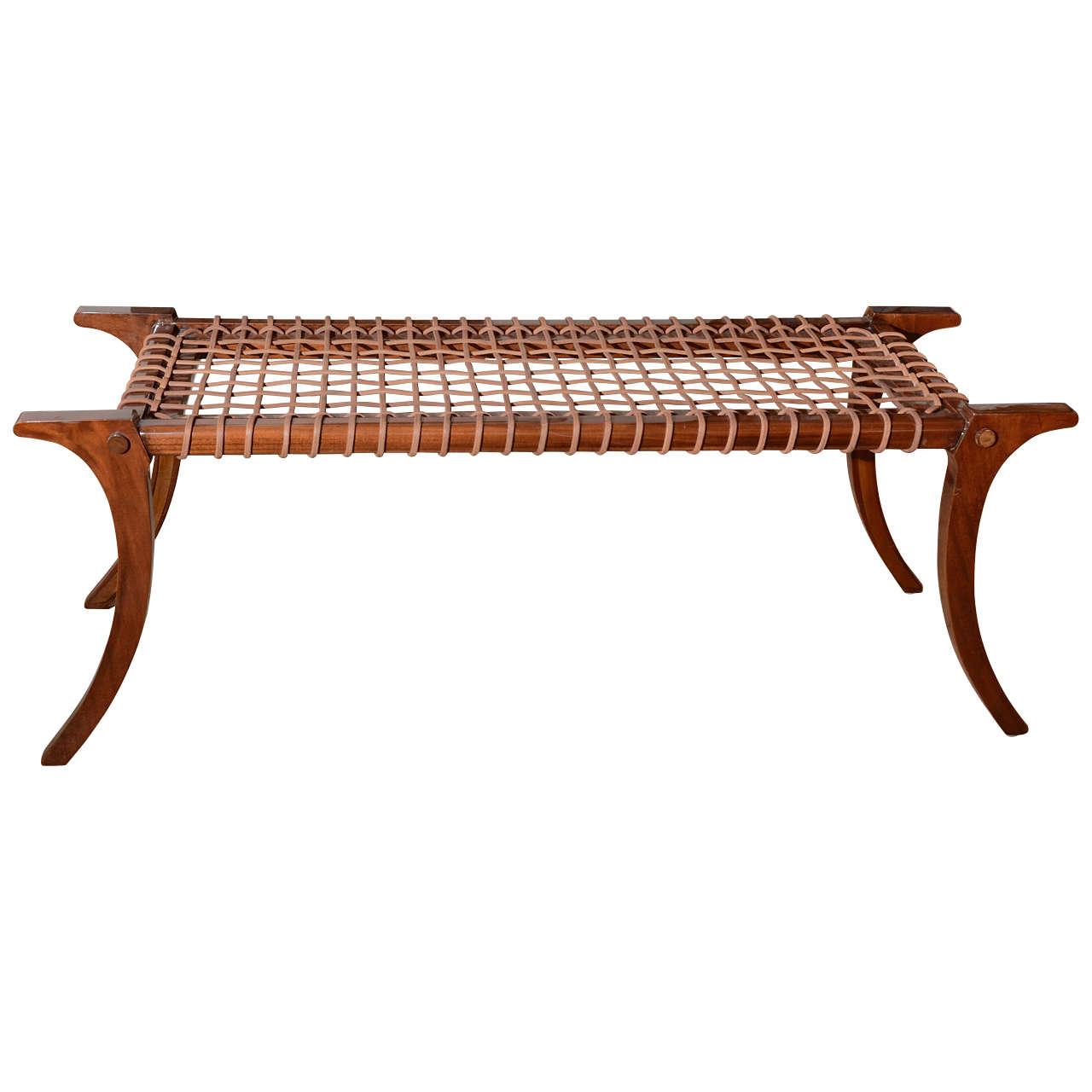 klismos leg bench ~ klismos bench in solid mahagony at 1stdibs