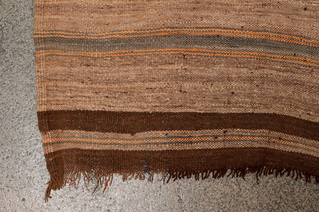 Hand-Knotted Moroccan Vintage Tribal Rug For Sale