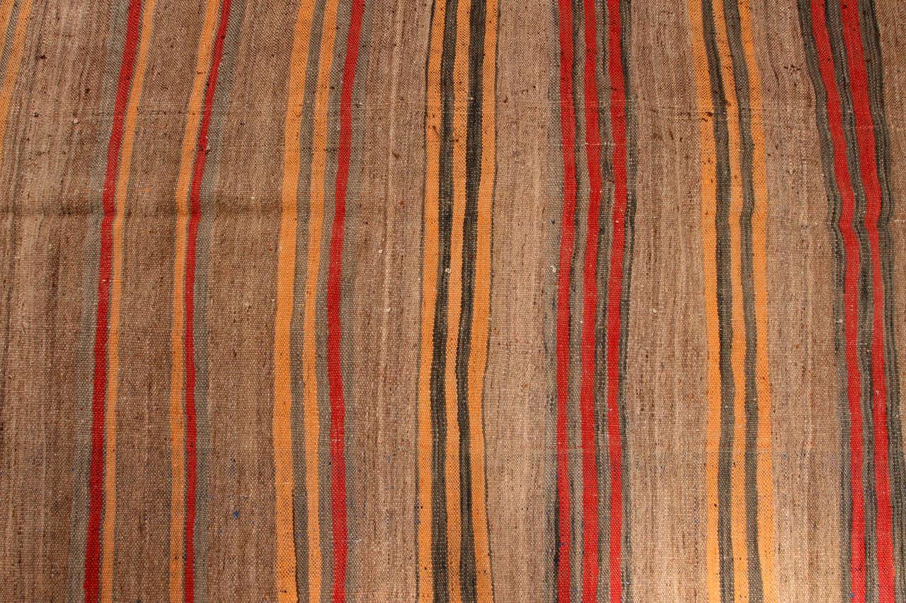 Moroccan Vintage Tribal Rug In Fair Condition For Sale In Los Angeles, CA