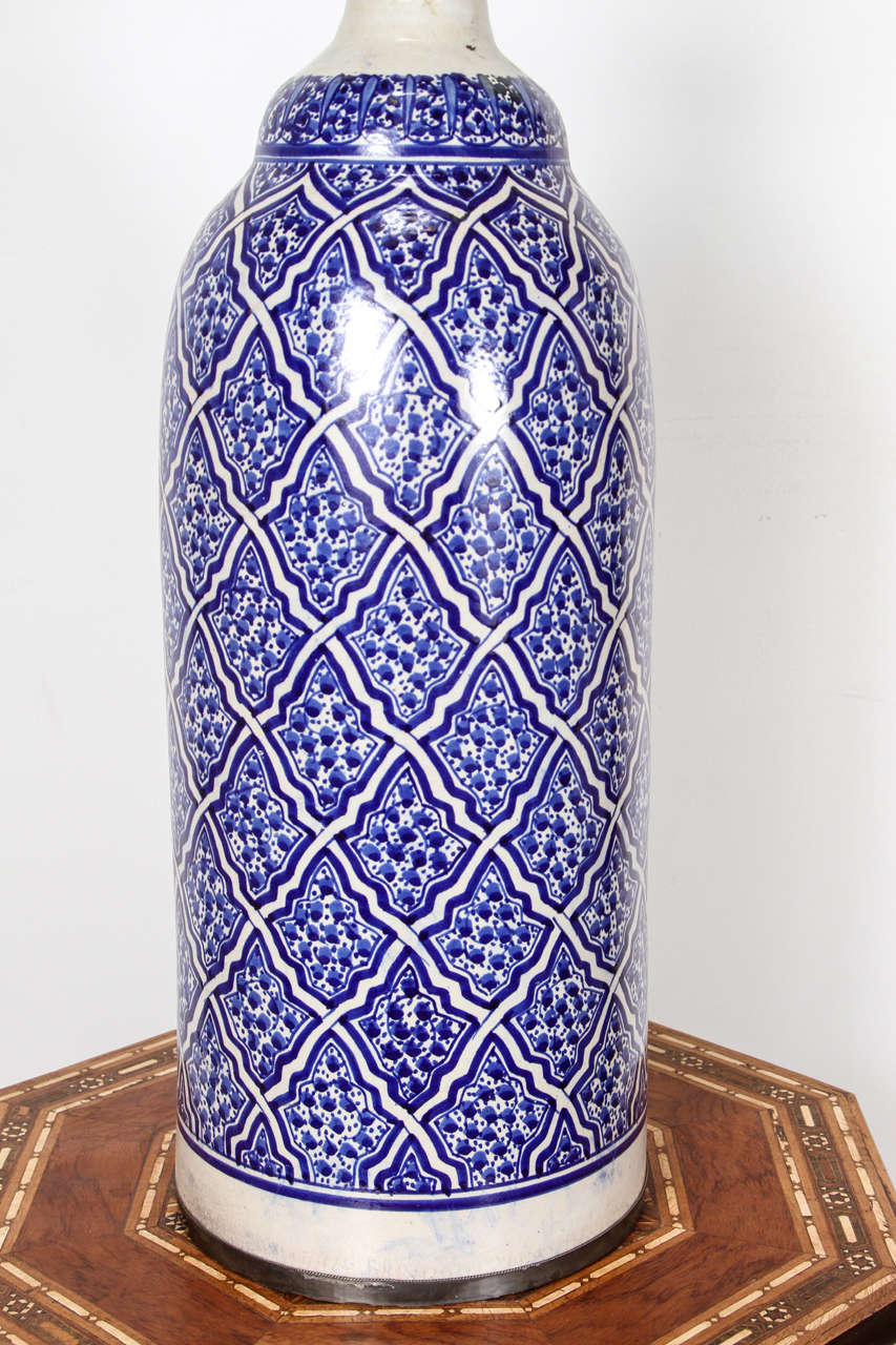 Moroccan Ceramic Table Lamps From Fez At 1stdibs