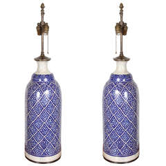 Moroccan Ceramic Table Lamps from Fez