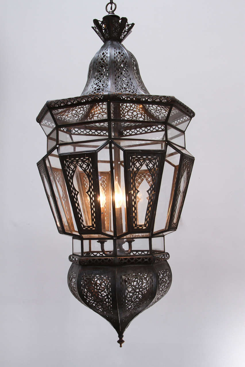 Pair of Moroccan Vintage Hanging Glass Light Fixtures For Sale at ...