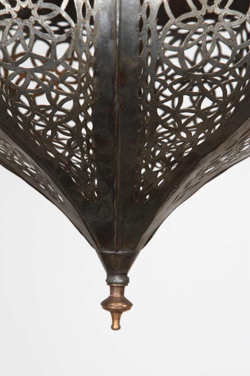 Moroccan chandeliers moroccan lighting fixtures : Pair of moroccan vintage hanging glass light fixtures for